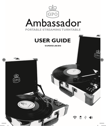 Ambassador turntable player User manual