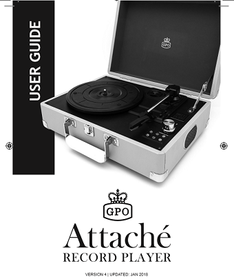 Attache Case turntable user manual