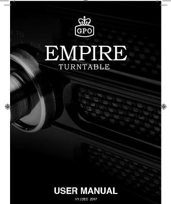 Empire Turntable User manual