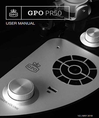 GPO PR50 Turntables User Manual
