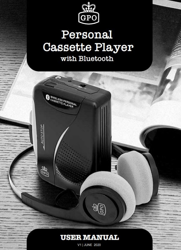 GPO Cassette Player (Bluetooth) User Manual