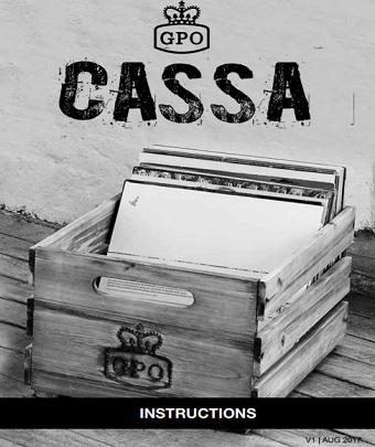 CASSA Record Player User manual