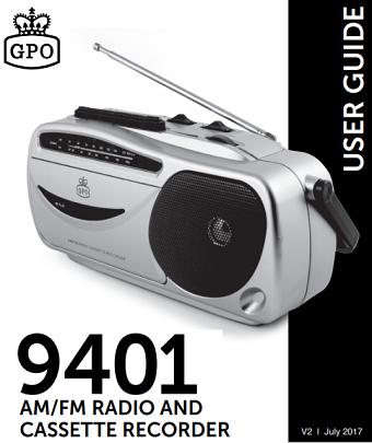 9401 Cassette Player User Manual