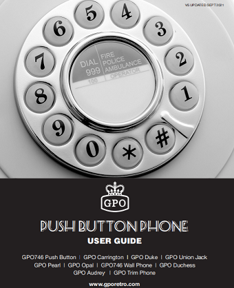 Push Button Phone User Manual