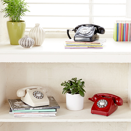 Push Button Phones,Old Phones,Vintage Style Phones