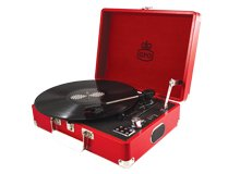 GPO Attaché with dapper style,briefcase styled turntable and Vinyl whilst retro style