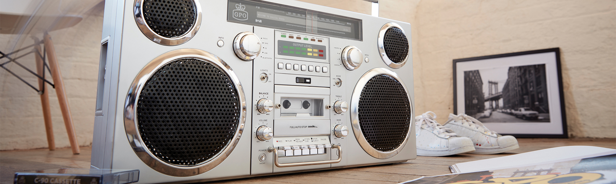 Retro Boombox Bluetooth | Boombox Stereo | Vintage Stereo system