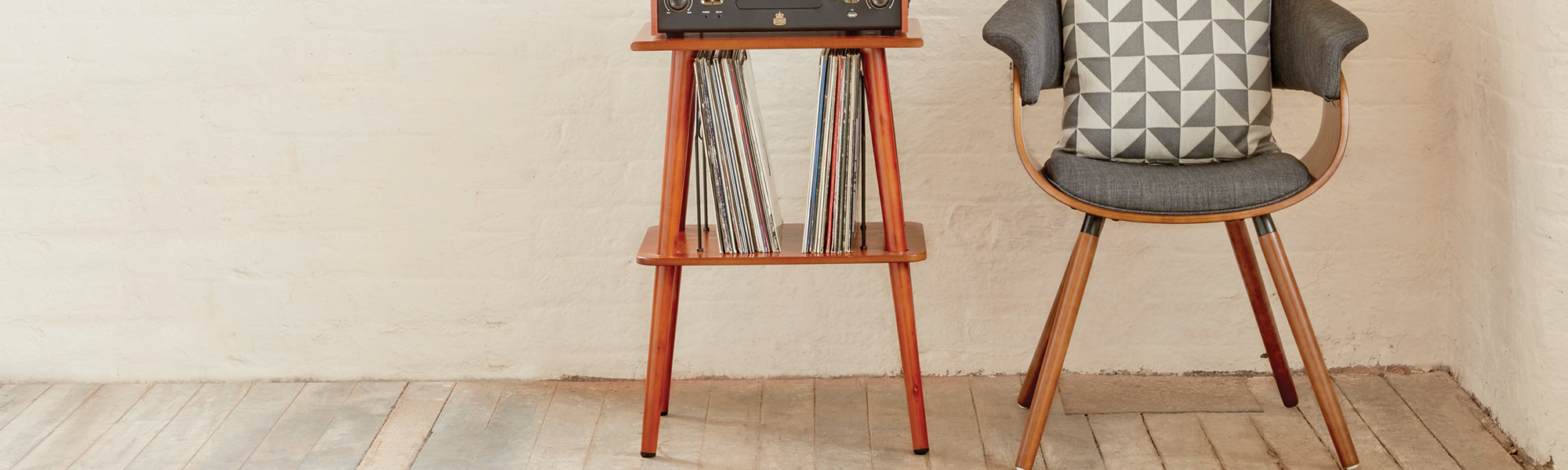 Retro Record Player Stand | Turntable Stand | Vinyl Player Stand