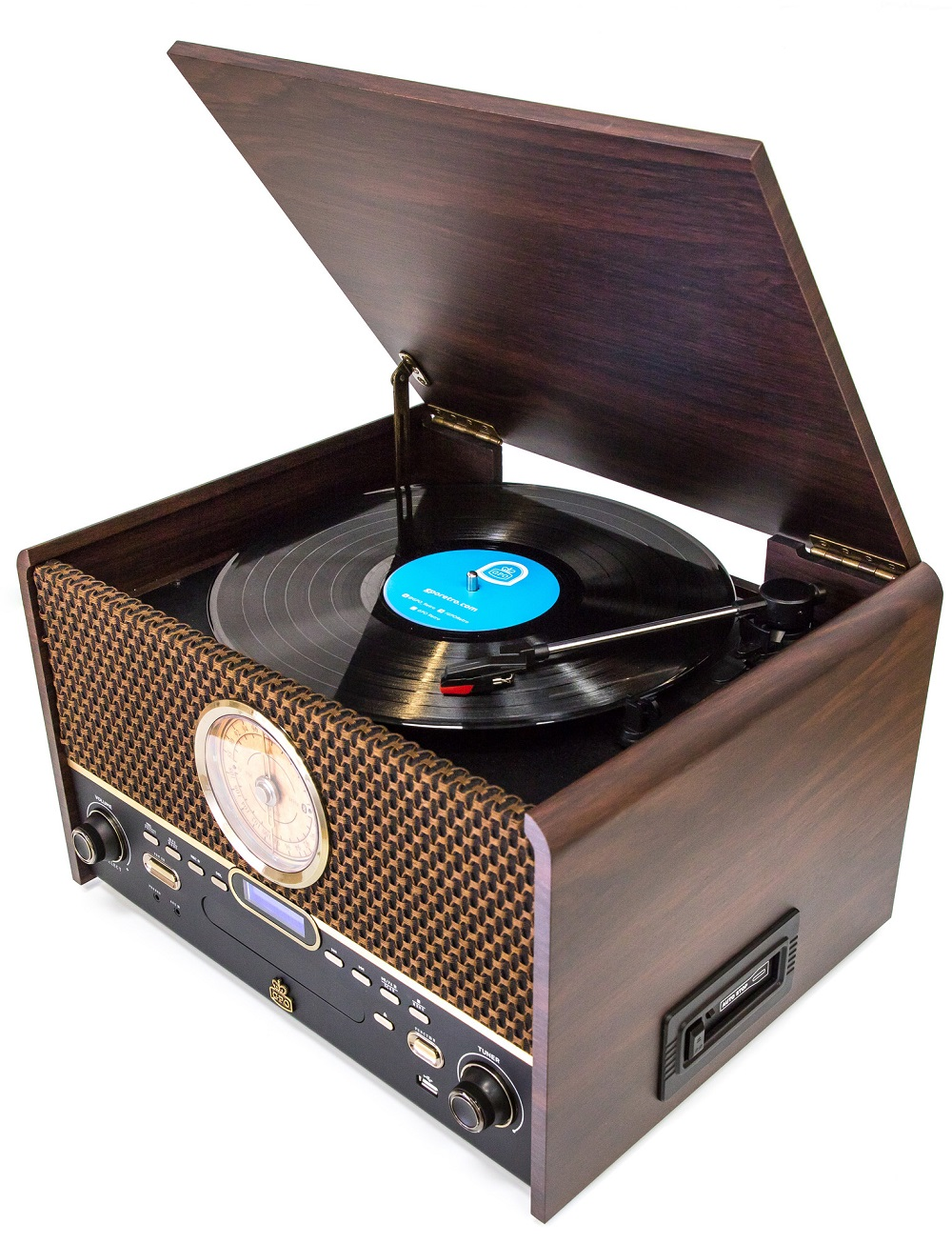 Details About Gpo Chesterton Dab 7 In 1 Music Centre Record Player Bluetooth Cd Usb Cassette
