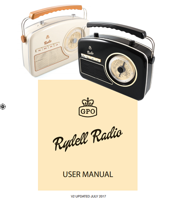 GPO Rydell Analogue RadioUser Manual